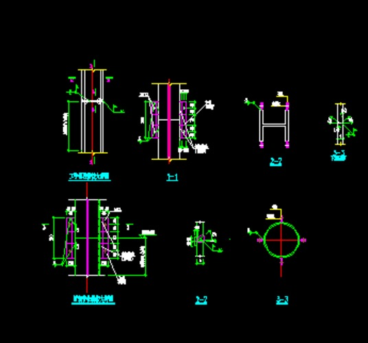 钢柱拼接节点大样图_cad图纸下载-土木在线