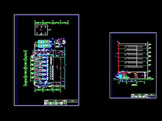发电机房设计图_【发电机房】大型数据中心发电机房平面布局图_cad图纸下载_土木 ...