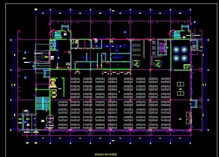 住宅新风设计系统装修设计新风设计食堂厨房厨房厨房杭州住宅路违章图片