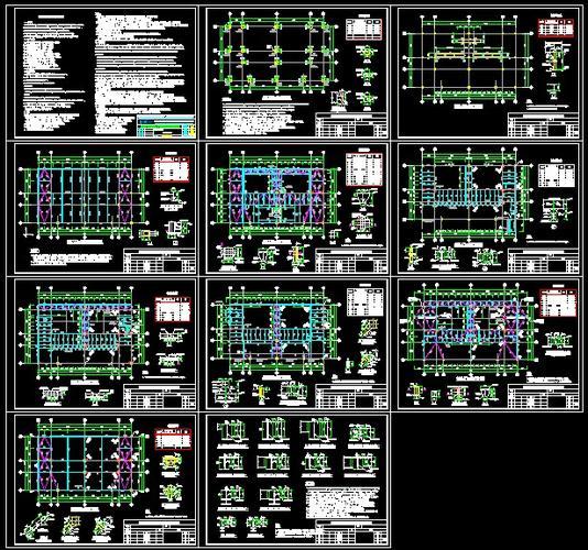 锅炉SCR反应器钢结构施工图_CO图纸v锅炉(原缸输送泵车土木图片