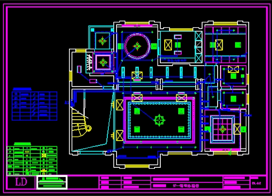 图纸 电气图纸 居住建筑 住宅楼建筑电气设计施工图 豪宅水电施工图