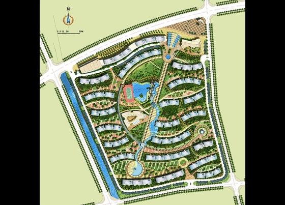 小区规划总平图 园林彩平图素材 室内彩平图素材 园林景观彩平图素材