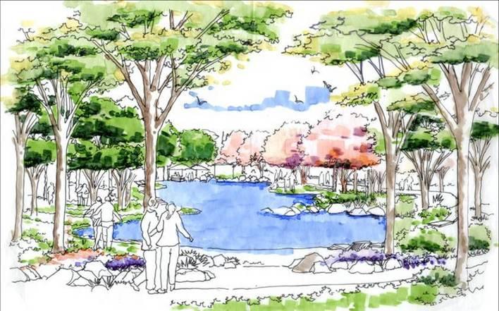 手绘景观小品手绘手绘景观小品景观手绘小品手绘景观剖面景观石手绘