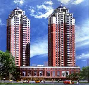 某高层住宅效果图 高清图片