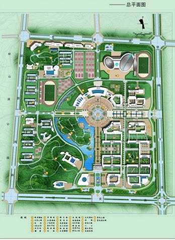 校园规划校园规划cad校园规划设计cad校园规划设计校园规划图绿色校园