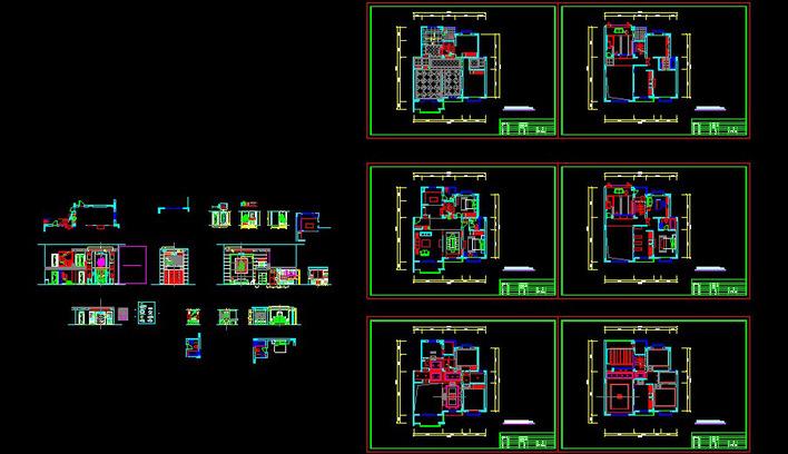 住宅装修平面图 高清图片