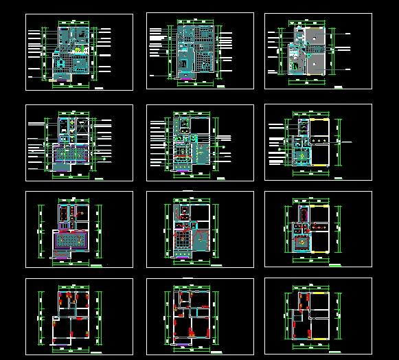 一套简欧式样板间平面图(上)