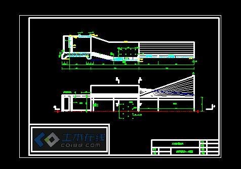 某图纸平面图及A-A剖视图_cad图纸下载检测线汽车水闸图片