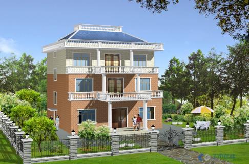 三层楼的小别墅效果图一张,值得一看 价格: 75土木币vip: 38 土木币