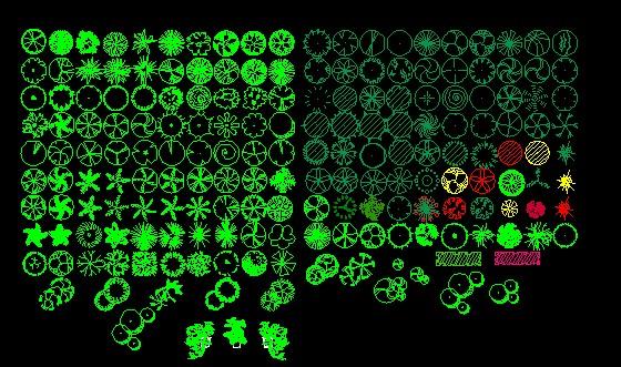 植物平面图例2