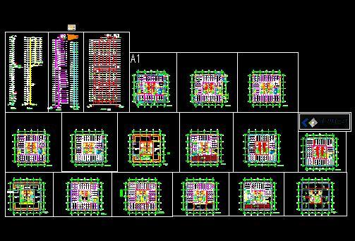 高层建筑水设计电气初步六合无绝对autocad系统排水下载图片