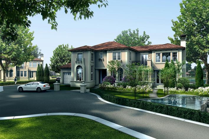二层框架结构别墅建筑