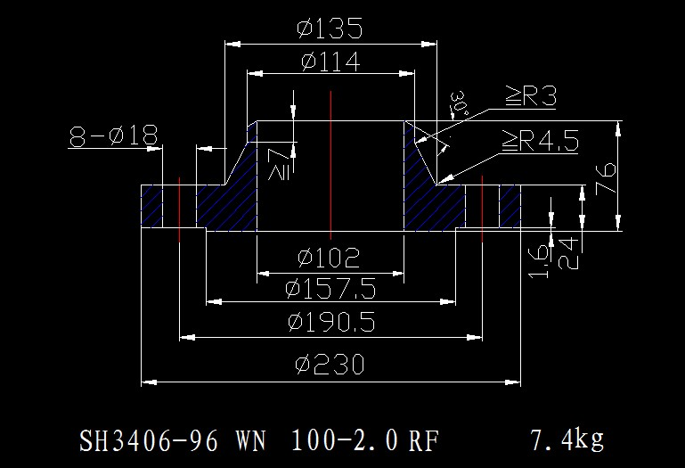 标准SH3406-96法兰图纸设计常用建菱砖施工图集图片
