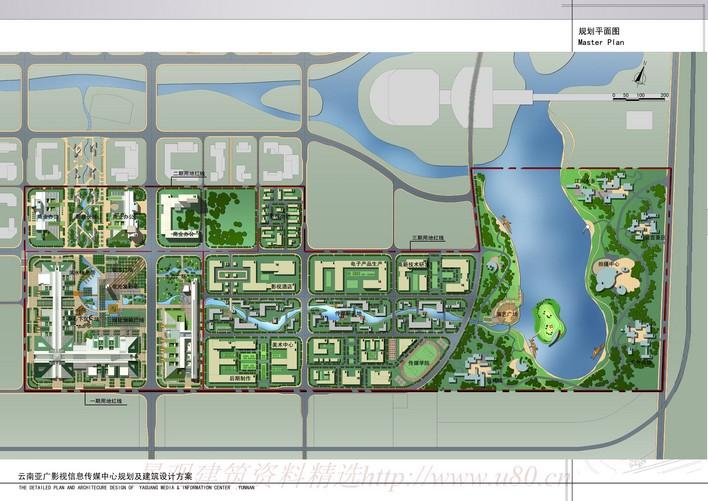 某传媒中心规划平面图