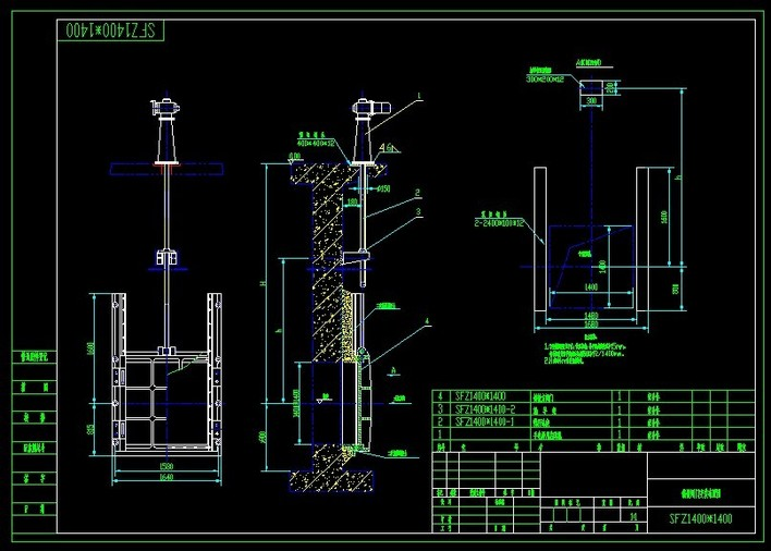 铸铁镶铜闸门CAD告诉请我们教育机构图片