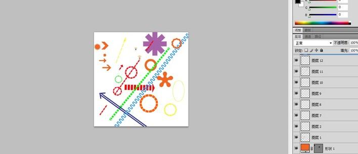 cad分析图专用 ps格式景观分析图素材 ps建筑分析图标 ps分析图标 某