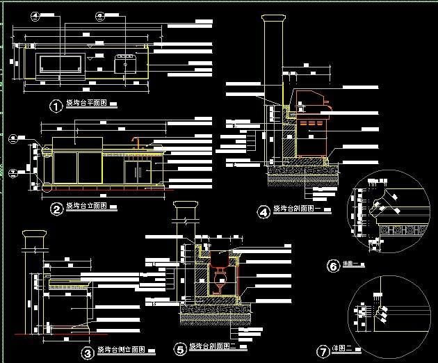 烧烤台详细施工图