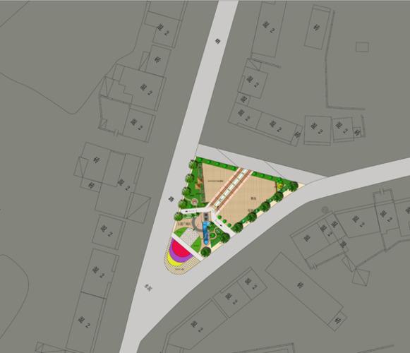 三角形的广场平面规划