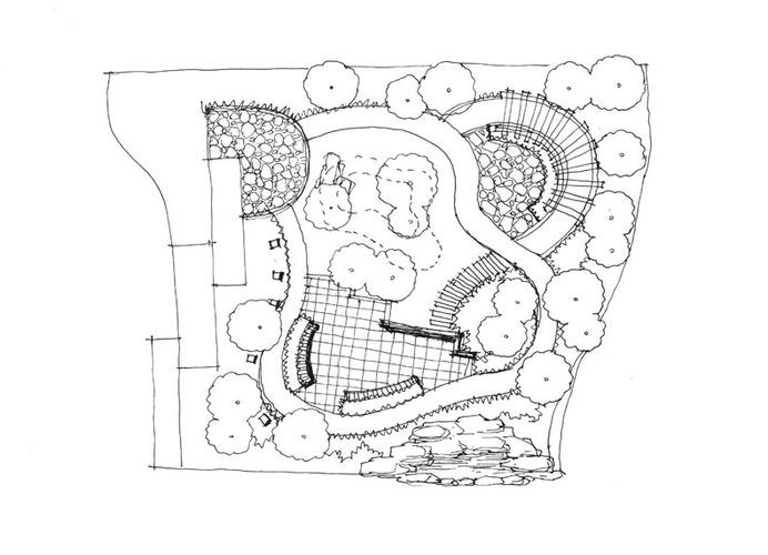 园林景观手绘 园林景观手绘设计平面图
