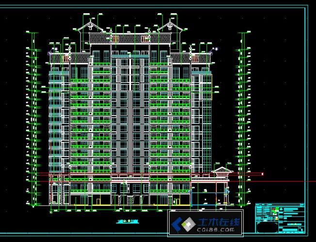 某高层建筑立面图