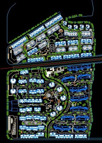 结构仿欧式园亭建筑图 某小区建筑设计总规划平面图(学生课程设计) 山