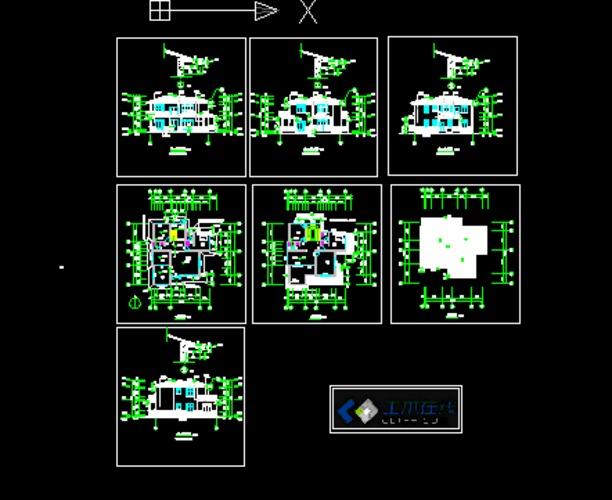 二层别墅设计施工图 二层小别墅施工图 二层钢结构别墅施工图  所属