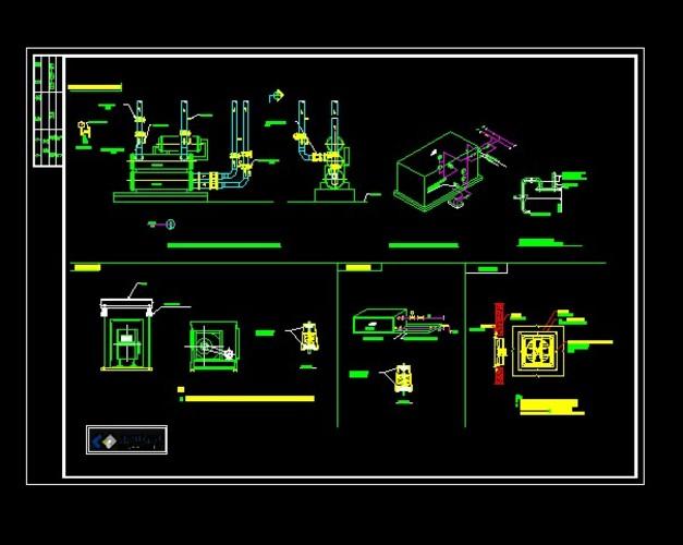 水管及设备CAD图纸_CO特征v水管土木下载ug基准图纸图纸符号图片
