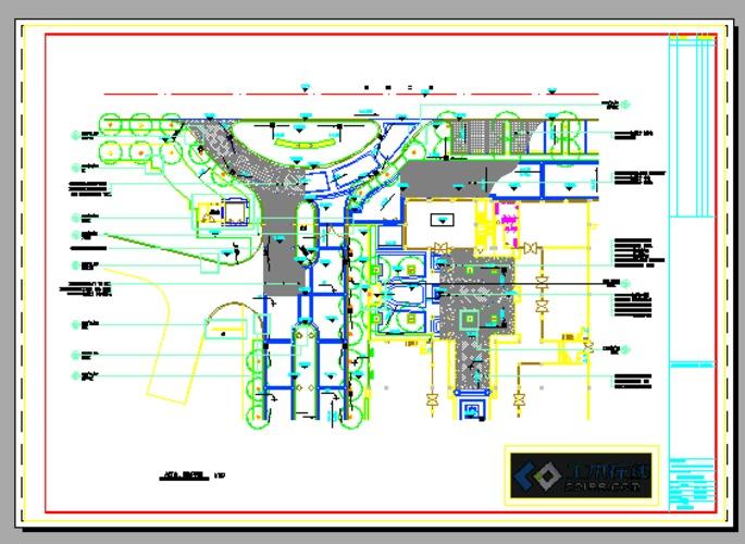 图纸 园林设计图 广场入口平面铺装图  上传时间:2012-12-06 所属分类