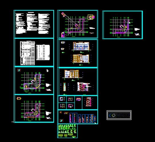 多层框架结构建筑图