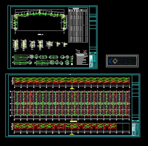 门架施工图课程设计