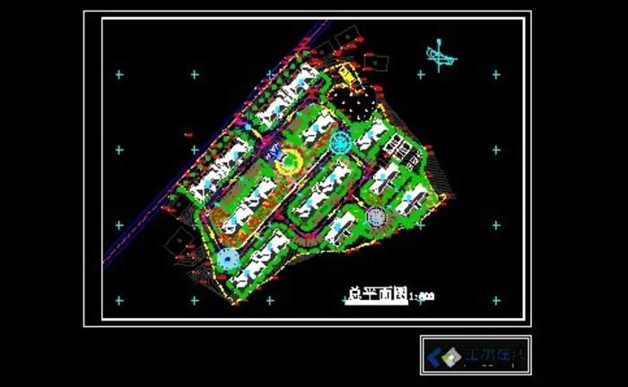 区总平面布置图   花园洋房小区总平面布置图   建筑图纸高清图片