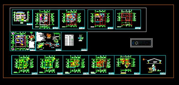 结构基础平面图、结构各层楼板配筋图、结构屋面斜板配筋图、结构楼