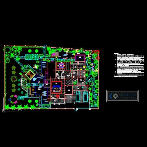 某别墅庭院设计平面图图片