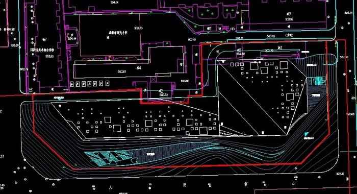 大学展览馆设计手绘效果图
