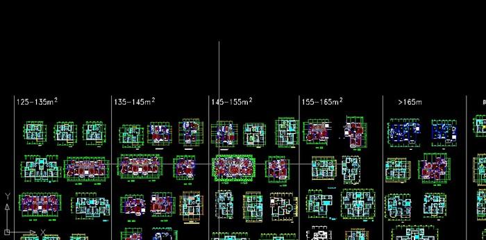 三室兩廳戶型面積 設計面積4020平方米住宅cad設計圖 住宅戶型圖集 相
