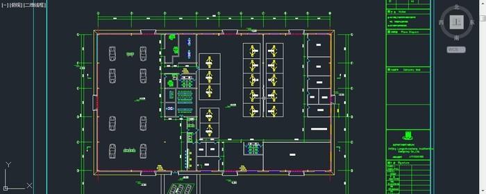 汽车4s店钢结构带办公二层图纸