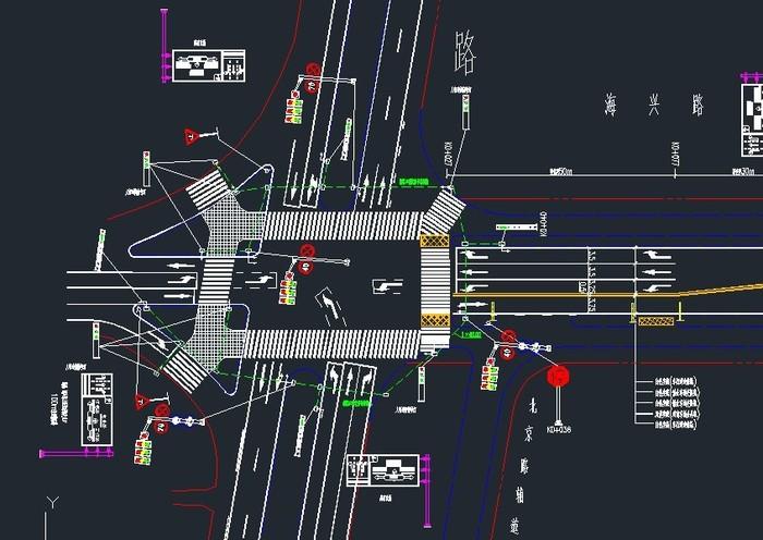 道路工程图纸 工程图纸 交通设施膜结构 市政道路工程图纸 工程图纸大