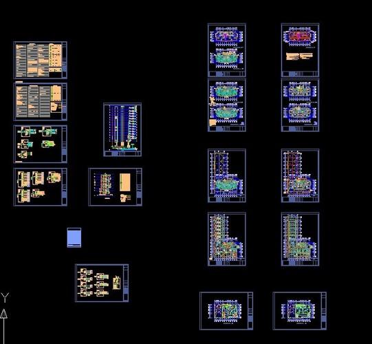 高层住宅电气图纸   高层住宅电气图纸   住宅楼   居住建筑高清图片