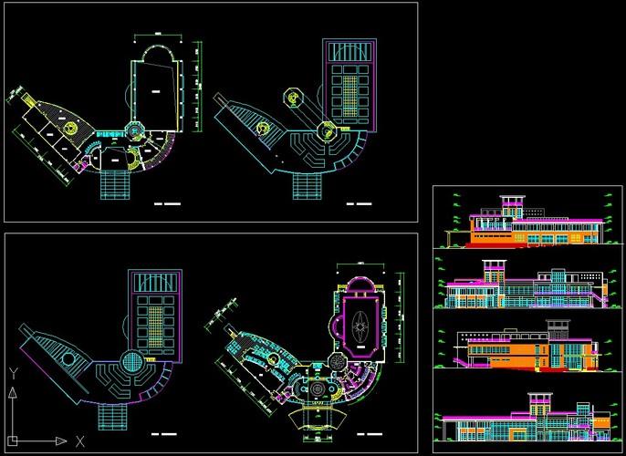 二层会所平立面图初步设计_co土木在线(原网易土木