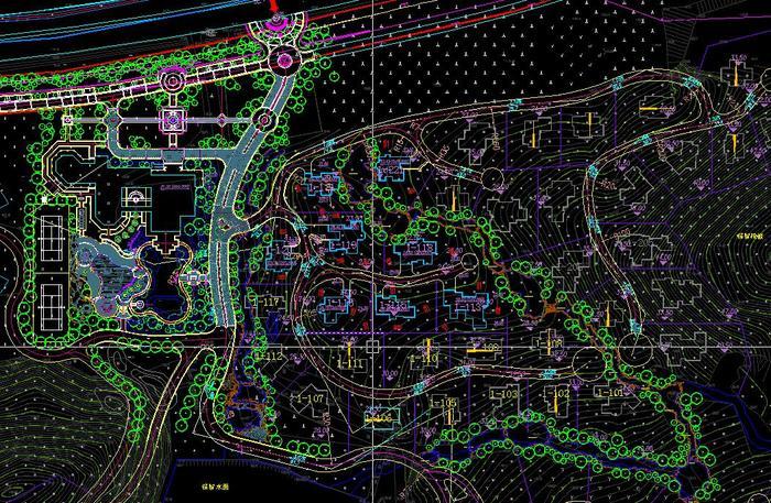 山地小区规划总平面图
