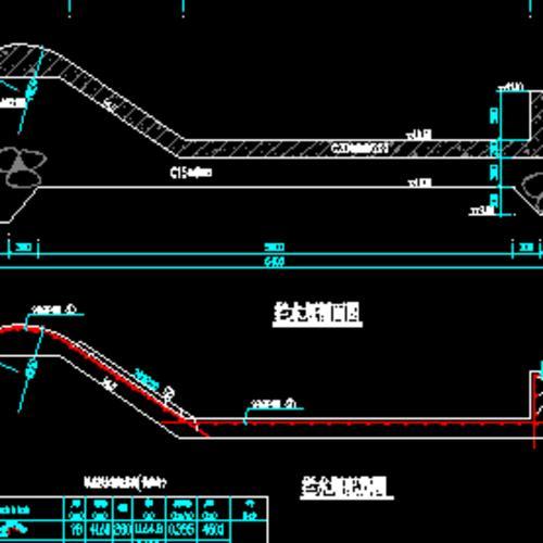拦水堰设计图,配筋图