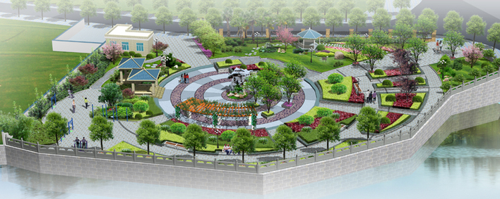图纸 园林设计图 某休闲小广场  上传时间:2006-10-17 所属分类:园林
