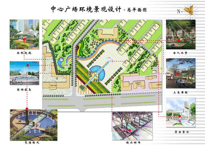 图纸 园林设计图 某中心广场平面图  上传时间:2006-10-27 所属分类