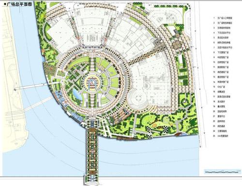 整套广场手绘图内容整套广场手绘图版面设计