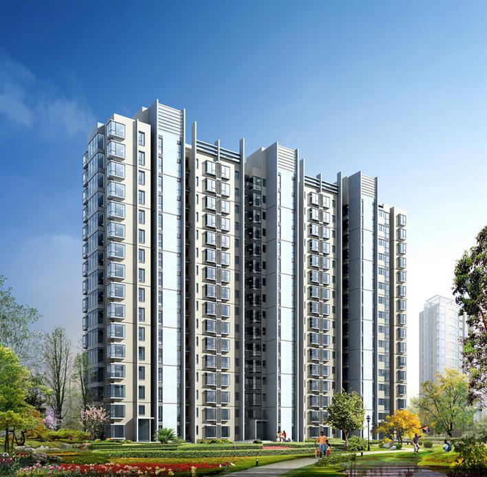 高层住宅建筑效果图 欧式高层住宅效果图 高清图片