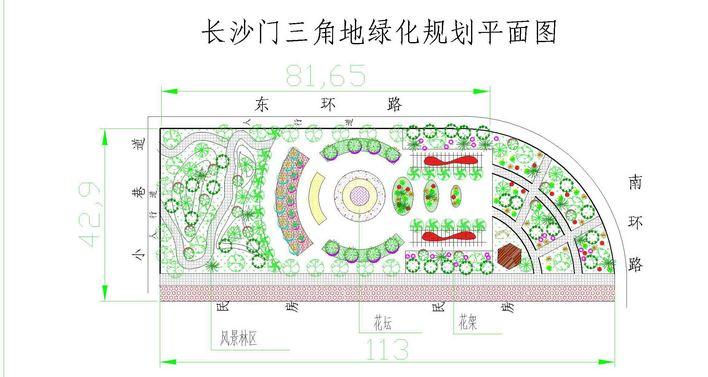 公园及游园景观规划设计图(公园设计)  小游园   小游园绿化平面图