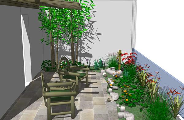 图纸 园林设计图  景观阳台su效果图   全su场景效果图  相关专题
