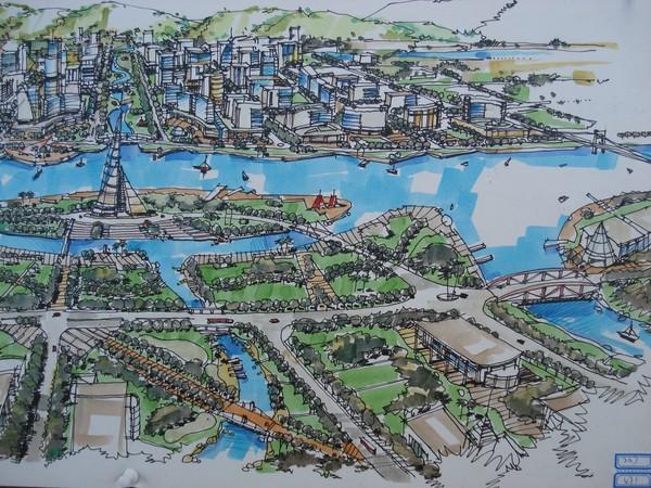 图纸 园林设计图  2006中国手绘建筑画大赛获奖作品             手绘