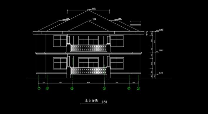 豪华别墅,建筑结构施工图