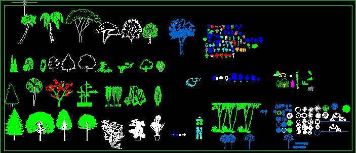 景观植物立面图库